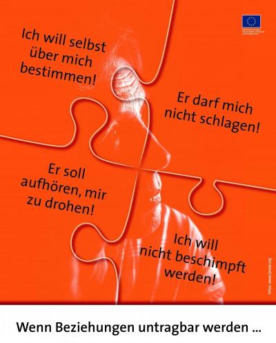 """Poster """"Wenn Beziehungen untragbar werden"""""""